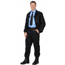 "Костюм ""СИРИУС-ТАЙФУН"" : куртка, брюки черный"