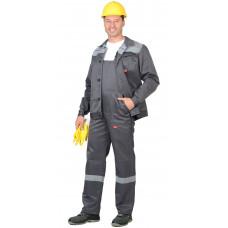 "Костюм ""СИРИУС-Сити"" : куртка .,п/к т.серый со св. серым СОП 50 мм"