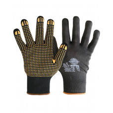 """Перчатки """"НейпДот-Ч"""" (нейлон, ПВХ-точка, цвет черный),"""