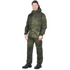 """Костюм """"СИРИУС-Горка"""" куртка, брюки  КМФ Цифра зеленая с отделкой  Хаки"""