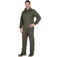 Костюм флисовый куртка, брюки оливковый