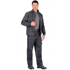 """Костюм """"СИРИУС-АЛЕКС"""" куртка, брюки т. серый"""