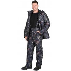 "Костюм ""СИРИУС-Тайга"" зимний: куртка, брюки. (тк.Алова) КМФ Темный лес (меркурий)"