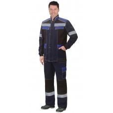"""Костюм """"СИРИУС-Полином"""":муж., куртка, брюки синий с черным и васильковым"""