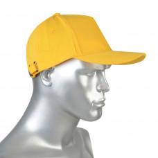 Кепка-бейсболка тк.смесовая с металлической застежкой желтая