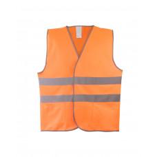 Жилет сигнальный оранж тип 1 (2 гор.СОП), карманы. класс 2, трикотаж п/э 130гр/м2