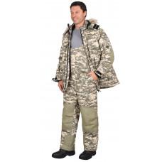 """Костюм """"СИРИУС-Бизон"""" зимний: куртка, п/комб. (тк.Рип-стоп) КМФ """"Пустыня"""""""