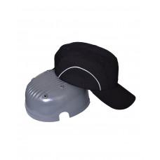 Каскетка-бейсболка защитная черная комбинированная (сетка,св.отраж.элементы)