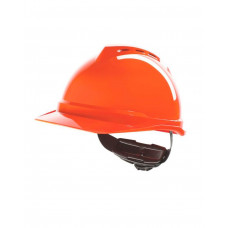 Каска MSA ВИ-ГАРД с храповиком красная
