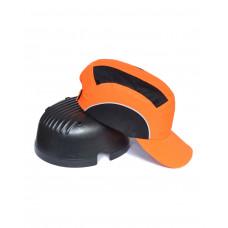 Каскетка-бейсболка защитная оранжевая комб. (сетка, св.отраж,элементы)
