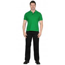 Рубашка-поло короткие рукава св.зеленая, рукав с манжетом, пл. 180 г/кв.м.