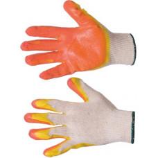 Перчатки х/б с двойным латексным покрытием  высший сорт,13-й кл., инд.упаковка