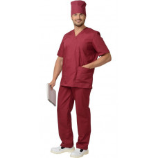 Костюм хирурга универсальный бордовый
