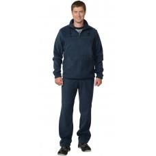 Костюм флисовый куртка, брюки темно-синий