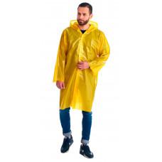 """Плащ-дождевик """"Сириус-Люкс"""" на липучке ПВД 80 мкр. желтый, пропаянные швы (х50)"""
