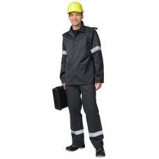 Костюм шахтёрский: куртка, брюки серый с СОП. Тип А