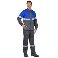 """Костюм """"СИРИУС-Самотлор"""" куртка, брюки серый с вас, 80% х/б, 20% п/э, антистатическая нить 250 г/кв."""