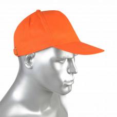 """Кепка -""""бейсболка"""" оранжевая (пакет по 50 шт.,в упаковке 200 шт.)"""