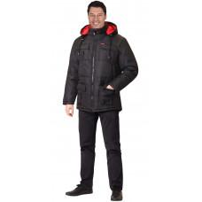"""Куртка """"Сириус-Кайман"""" черная, подкладка флис"""